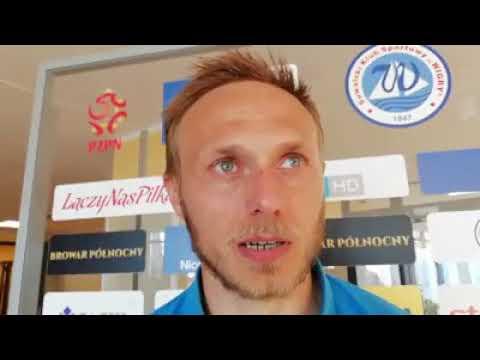 Grzegorz Lech po meczu Wigry Suwałki - Stomil Olsztyn