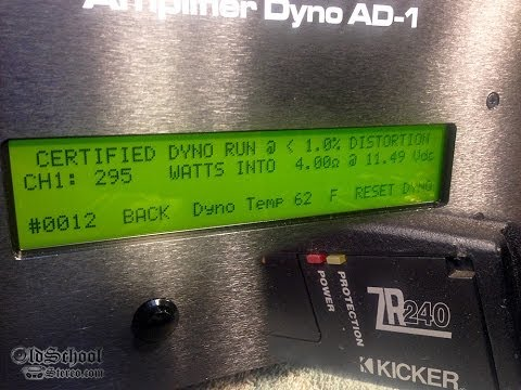 Kicker ZR240 vs SMD AD-1 Amp Dyno 4 ohms Mono Certified Raw Video