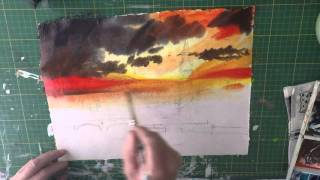 Silhouette Houses of Parliament watercolour