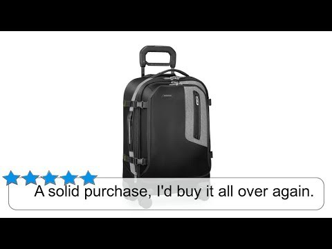 Briggs & Riley BRX Explore Domestic Expandable 22inch Carry on, Black
