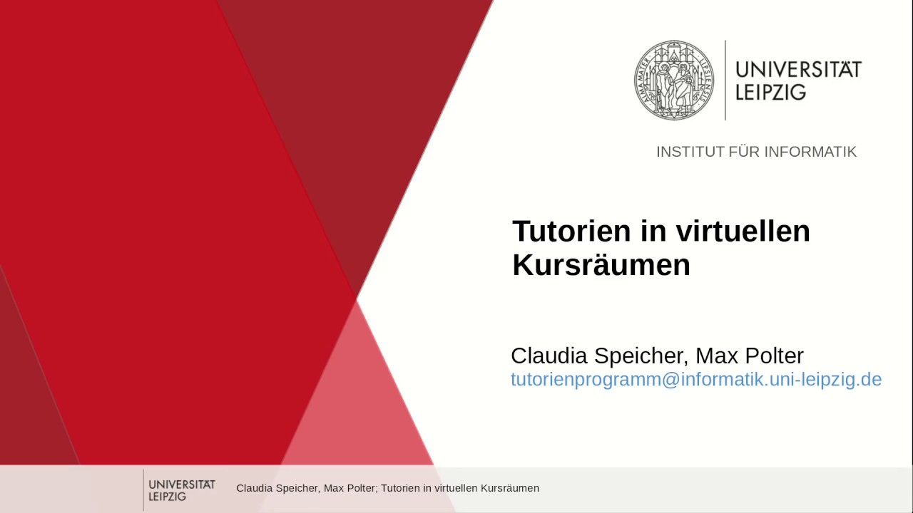 Tutorien in virtuellen Kursräumen