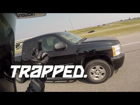 Testing a new dash cam, truck drives right into me (Motorcycle Road Rage)