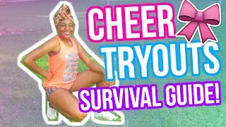 THE ULTIMATE CHEER TRYOUTS SURVIVAL GUIDE 2017!! Tips & Tricks + Jump Tutorial! Tamia Raeshun