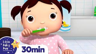 Brush Teeth Song +More Nursery Rhymes and Kids Songs | Little Baby Bum