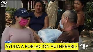 EXGOBERNADOR DE CASANARE JOSUE ALIRIO BARRERA, DONÓ CIENTOS DE MERCADOS A LA POBLACIÓN VULNERABLE EN