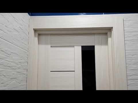 Видео Двери Profil Doors 37X эш вайт мелинга черный триплекс