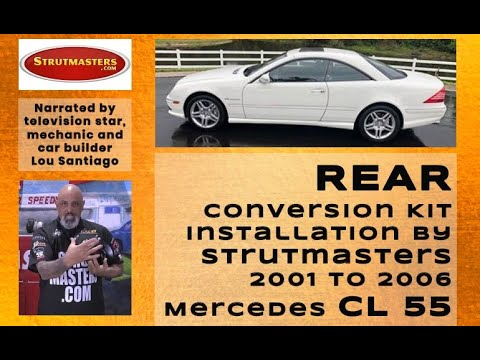 2001-2006 Mercedes CL55 Rear Suspension Conversion Kit Installation