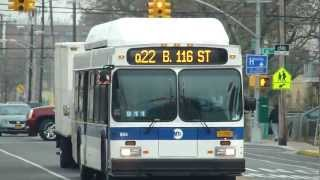 preview picture of video 'MTA Bus: 2012 New Flyer C40LF Q22 Bus #604 at B 67th St-Beach Channel Drive'