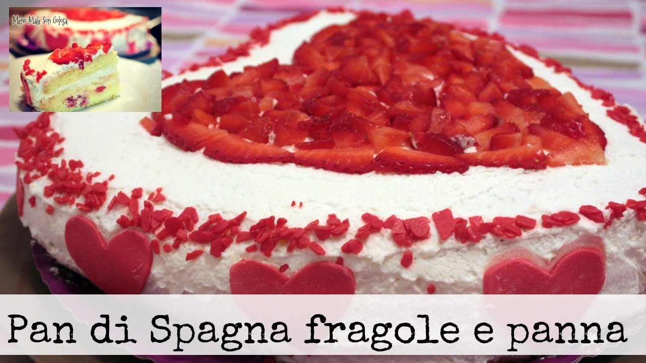 CUORE DI FRAGOLE ♥ Torta romantica con fragole, panna e yogurt ♥ VIDEORICETTA