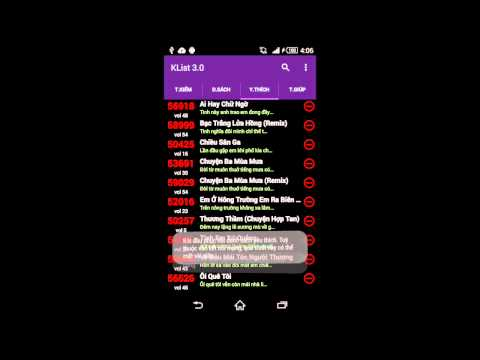 Video of Karaoke List