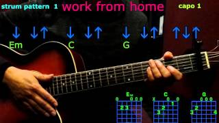 work from home fifth harmony guitar chords