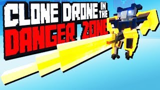 Crazy Greatsword Challenge! - Clone Drone in the Danger Zone Gameplay