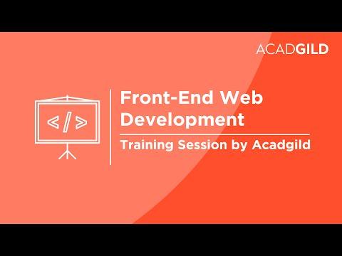 Frontend Web Development Training by Acadgild - YouTube