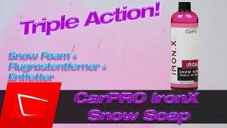 CarPro IronX Snow Soap - Snow Foam, Flugrostentferner und Entfetter in einem Produkt der Test