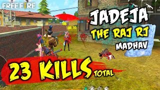 Squad Match 23 Kills Total Jadeja, The Raj, Madhav - Garena Free Fire- Total Gaming