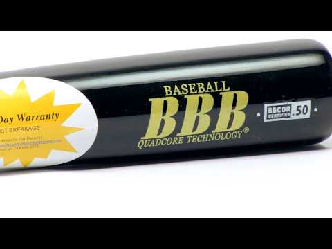 BamBooBat Bamboo Wood Baseball Bat: HBBB100D Black Adult