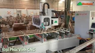 Máy đục mộng âm 4 đầu bàn dài 2,5 mét Woodmaster | WM-4CNC