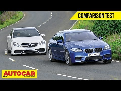 BMW M5 VS Mercedes E63 AMG | Comparison Test | Autocar India