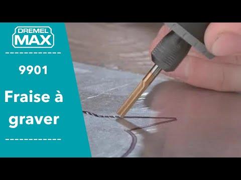 Musique publicité Dremel Dremel Max 9901 Fraise à sculpter et graver le bois et le métal, diamètre 3,2mm    Juillet 2021