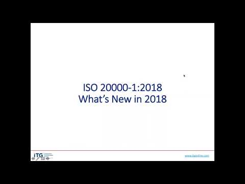 ISO 20000 What's New for 2018 - YouTube