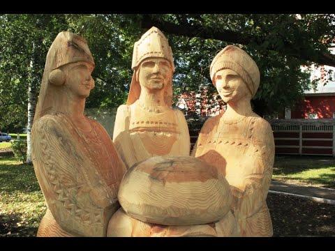 Русские деревянные скульптуры. Резьба по дереву.