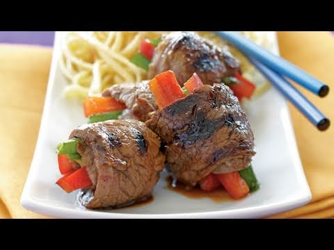 Asian Beef Rolls Recipe