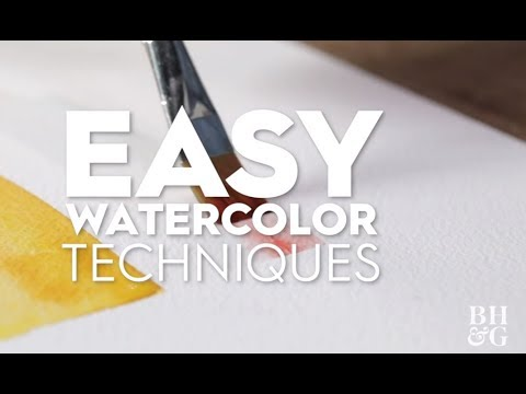 3 Easy Watercolor Techniques | Made by Me - Home | Better Homes & Gardens