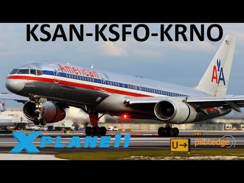 X-Plane 11 | Happy 4th of July!! | B757 | PilotEdge | San Diego, San Francisco & Reno!!