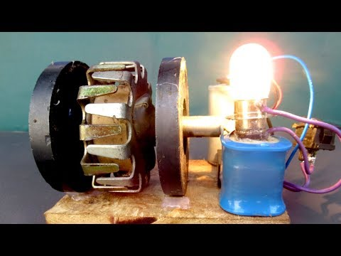 How to make Free energy generator electricity Using Magnet motor – Easy DIY project experiment 2018