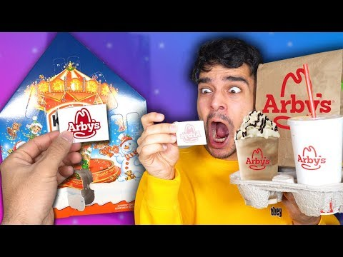 Letting an ADVENT CALENDAR Decide What i Eat for 24 Hours! (FOOD CHALLENGE)