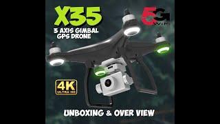 X35 1KM 5G Wifi GPS Drone With 3 Axis Gimbal 4K HD Camera 28mins Flight