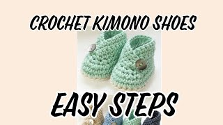 DIY Tutorial Crochet Kimono Shoes. How To Crochet Kimono Shoes. Easy And Quick