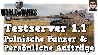 World of Tanks - Testserver 1.1, polnische Panzer & persönliche Aufträge [deutsch | News]