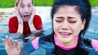 VY FACES HER FEAR OF WATER! Swimming Pool Challenges To Unlock Secrets Of GKC Safe Underwater!
