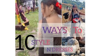 ||10 Different Dresses and Styles|| ||Wardrobe Basics|| || How to Style||