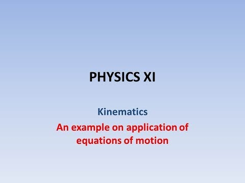 An example on application of equations of motion