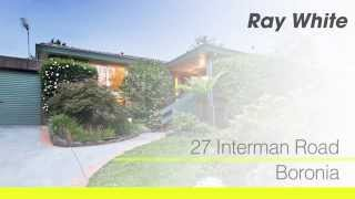 27 Interman Rd, Boronia Agent: Peter Gindy 0448 778 819