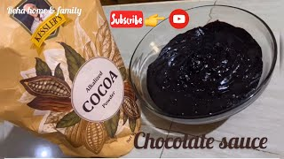 chocolate dipping sauce with cocoa powder