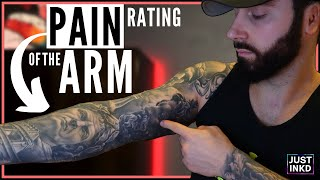 RATING 1-5 Tattoo Pain LEVELS Of The ARM
