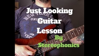 Stereophonics - Just Looking Guitar Lesson