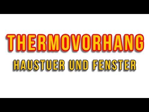 Thermovorhang Haustür - Thermogardine - Wärmeschutzvorhänge - Kälteschutzvorhang