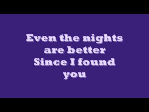 Air Suply Even The Nights Are Better Lyrics ( on screen)