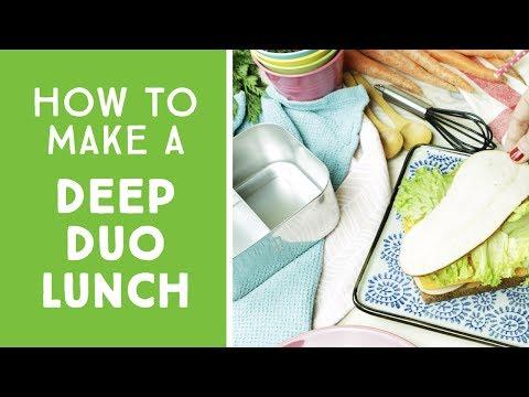 Vorschau: Tiefe Lunch Box Edelstahl Fächer teilbar Deep Duo