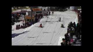 preview picture of video 'Edelweiss Ski Hill Snowmobile Drags'