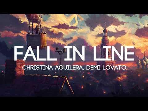 Christina Aguilera - Fall In Line ft. Demi Lovato (Lyrics/Lyrics Video) mp3