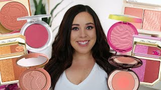 RANKING ALL MY BLUSHES FROM WORST TO BEST! 12 DIFFERENT FORMULAS