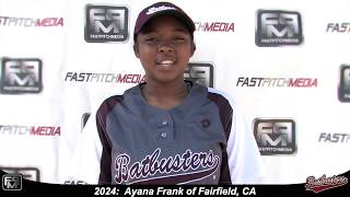 2024 Ayana Frank Shortstop Softball Skills Video - Batbusters