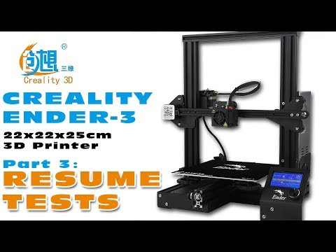 Resume-print function tests with the Creality Ender-3 3D printer :)