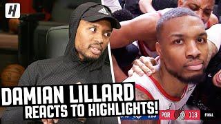 Damian Lillard Reacts To Damian Lillard Highlights! | The Reel