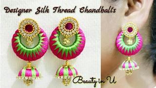 Silk Thread Jewelry   Making of Designer Earrings   Antique